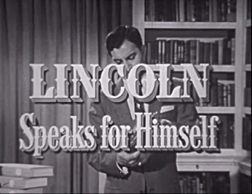 Lincoln Speaks for Himself title